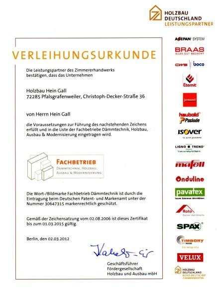 02.03.2012 – Verleihung Fachbetrieb